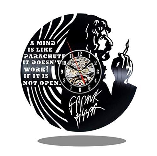 wczzh 12 Zoll(30cm) Modern Quartz Lautlos Wanduhr Uhr Uhren Wall Clock Band Vinyl Schallplatte Wanduhr rauchende Männer