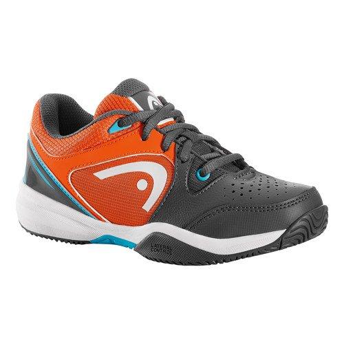 Head Revolt Gror, Schuhe Tennis Unisex Kinder, grau - Gris (Gris /Orange /Blanc ) - Größe: 35 (Grau-tennis-schuhe Orange Und)
