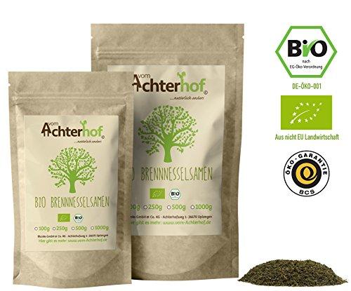 BIO Brennesselsamen kbA 250 g | Wildsammlung | Naturbelassen | Vegan | Rohkostqualität | BIO Brennessel Samen natürlich vom-Achterhof (Magnesium Ergänzung In Bio)
