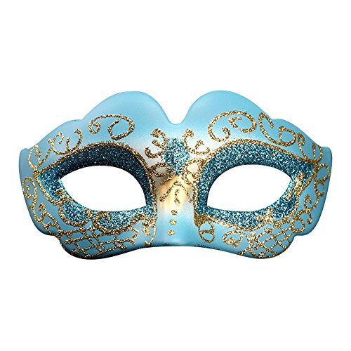 Halloween Augenmaske Gesichtsmaske Maske Kostüm Damen Mädchen Prinzessin Party Dress Up Fashing Karneval Blau