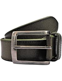 POLO INTL Men's Leather Belt (Henna Green, 30 inches)