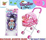 Toy Arena Baby Doll Stroller Foldable Baby Pram for Baby Age 3 Years