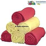 Pañal de gasa (6unidades multicolor plástico pañales Vómitos 70x 80Nuevo. 100% algodón para Vómitos paños (3x Burdeos y 3x amarillo