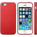 iProtect TPU Schutzhülle iPhone 5 5s Hülle Maserung rot