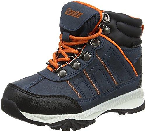 Latupo GmbH - Shoes Limes, Scarpe da Arrampicata Alta Unisex-Bambini, Blu (Navy/Orange), 32 EU