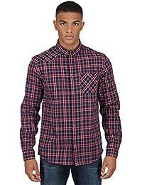 Luke 1977 Mens Motthe Flannel Long Sleeve Check Over Shirt with Chest Pockets