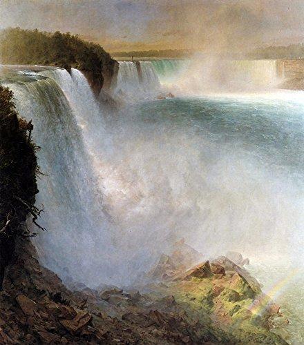 Das Museum Outlet-Niagara Falls, von der American Seite von Frederick Edwin Church-Poster Print Online kaufen (76,2x 101,6cm)