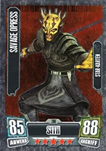 Star wars series 2 cartes force attax simples 208 savage opress sith star-carte en allemand