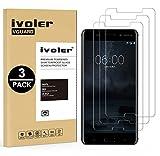ivoler [Pack de 3] Verre Trempé pour Nokia 6 2017, Film Protection en Verre trempé écran Protecteur vitre