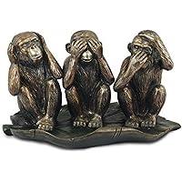 Tre scimmie Sagge ornamento vedi sentire parlare male - Male Scimmie Sagge