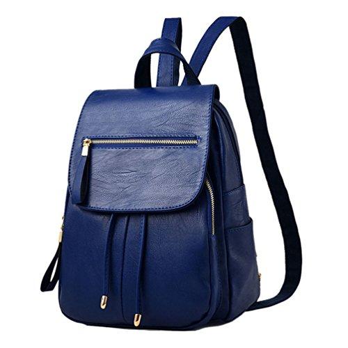 Sentao Zaino Donna Borsa Zaino Schoolbag Zaino Casuale Borsa a tracolla Scuro Blu
