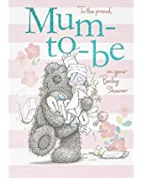 """Me To You Tatty Teddy Proud Mum To Be On Your Baby Shower Card 6.75"""" x 4.75"""" Code A01SS380"""