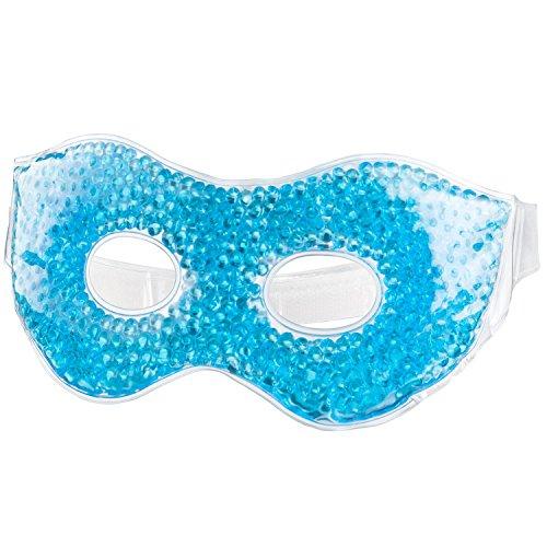 Feluna Gel-Augenmaske Entspannungsmaske Wellnessmaske für Kältetherapie Gelmaske Kühlmaske