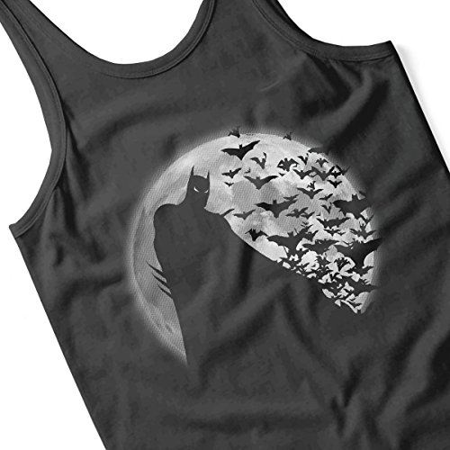 Dark Knight Batman Shadow Under The Moon Men's Vest Black