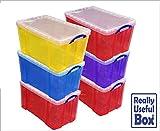 Box, Kunststoff, 84 Liter, verschiedene Farben, 6 Stück