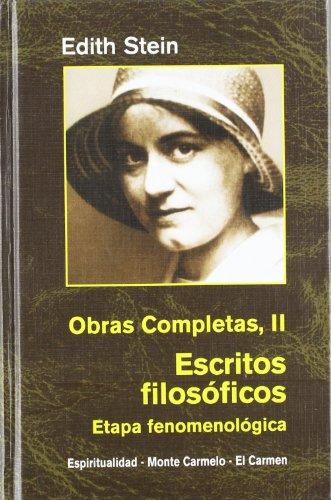 Descargar Libro Edith Stein. Obras completas: Ediht Stein. Obras Completas II: Escritos filosóficos. Etapa fenomenológica (Maestros Espirituales Cristianos) de Edith Stein