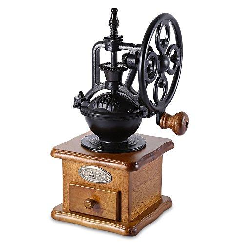 Manuelle Kaffeemühle leise tragbar Hand Schleifmaschine Retro-Stil-Frässtifte Ausleger, Handkurbel Roller (Antike Kaffeemühle)
