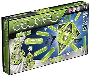 Geomag- Glow Construcciones magnéticas y Juegos educativos,, 104 Piezas (337)
