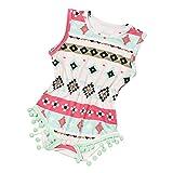 Babykleidung Honestyi Neugeborenes Kleinkind Baby Druck Bodysuit Overall Sunsuit Kleidung Set (Rot,XL)