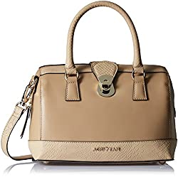 Aquatan Women's The Bombshell Medium Leather Bowler Camel AT-M-23