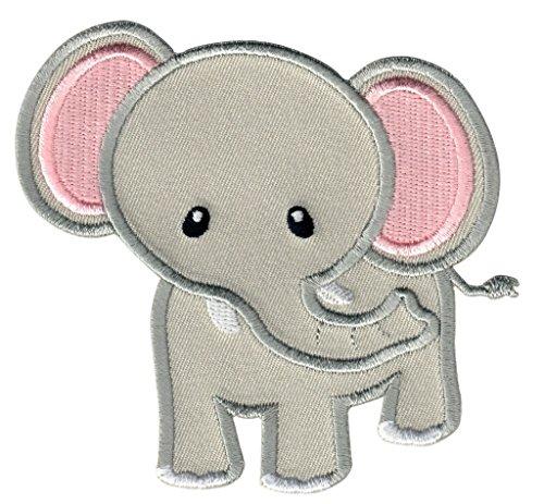 PatchMommy Parche Bordado Elefante Gris Parche Termoadhesivo