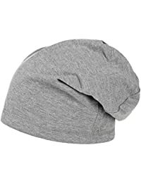 Boston Long Beanie Damen/Herren (ca. 30 cm), One Size 55- 64 cm, Slouch Mütze Sommer/Winter, Jerseymütze aus Baumwolle