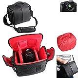 Pour Panasonic Lumix DMC-FZ300 Sac Sacoche Gadget pour appareil photo reflex numérique et accessoires Anti-Choc DSLR SLR caméra Housse Étui de pluie pour Panasonic Lumix DMC-FZ300 supplémentaire protection complète boîte de voyage antichoc, noire - K-S-Trade(TM)