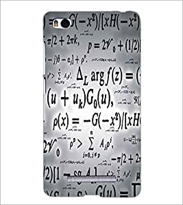 XIAOMI MI4I EQUATIONS Designer Back Cover Case By PRINTSWAG