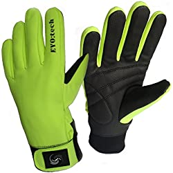 Eyo Tech Essentials guantes de ciclismo impermeables, de invierno, Aikido, color HiVizz, tamaño large