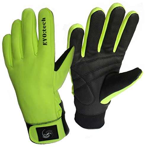 EYO TECH ESSENTIALS GUANTES DE CICLISMO IMPERMEABLES  DE INVIERNO  AIKIDO  COLOR HIVIZZ  TAMAÑO LARGE