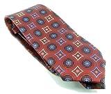 Cravate en soie Bleu/argenté 8 cm