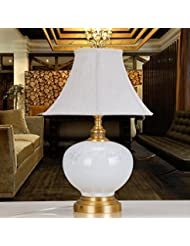 BBSLT-base de cobre puro en chino moderno de cerámica, lámparas de estilo occidental de salón dormitorio cabecera lámpara de mesa decorativas , c