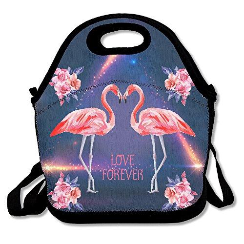 Flower Love Flamingo Lunchbox Handtasche Lunchbox für Schule Arbeit Outdoor -