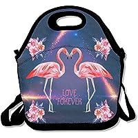 Blume Love Flamingo Lunch Bag Handtasche Lunchbox für Schule Arbeit Outdoor preisvergleich bei kinderzimmerdekopreise.eu