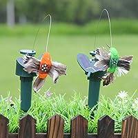 Wakerda Colibrí Solar decoración de jardinería Hermosa con energía Solar Volando aleteo colibrí Volando pájaros DIY jardín decoración del hogar