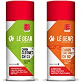 Le Gear LECH01CH02-500 CH01CH02 Chain Cleaner and Chain Lube Spray for Bike (500ml Each)