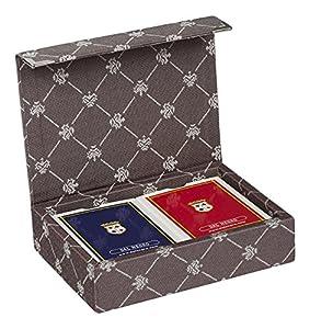 Dal Negro 804521-Puerta Tarjetas de Juegos Prestige Color Poker y Ramino, marrón