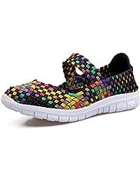 QANSI Zapatos Deportivos Para Mujer Zapatillas Ligeras Zapatos Tejidos Multicolores Zapatillas Transpirables Para Caminar