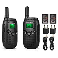 license-free two way radio walkie talkies pmr446 radio 2 pcs/lot kids walkie talkie 0.5W 8CH VOX PTT 3 miles two way radio with rechargeable Li-ion battery & privacy code SOCOTRAN