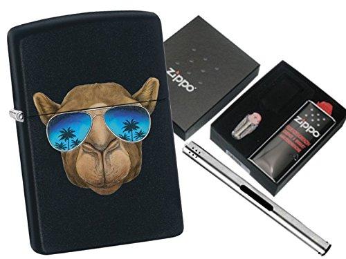 Zippo Camel With Sunglasses mit Zippo Geschenkset und L.B Chrome Stabfeuerzeug (Camel Zippo)