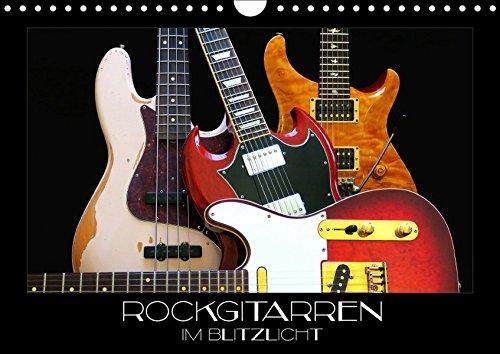 Rockgitarren im Blitzlicht (Wandkalender 2019 DIN A4 quer): Gitarrenschönheiten auf schwarzem Hintergrund eindrucksvoll in Szene gesetzt (Monatskalender, 14 Seiten ) (CALVENDO Kunst) (Guitar Fender Bass Jaguar)