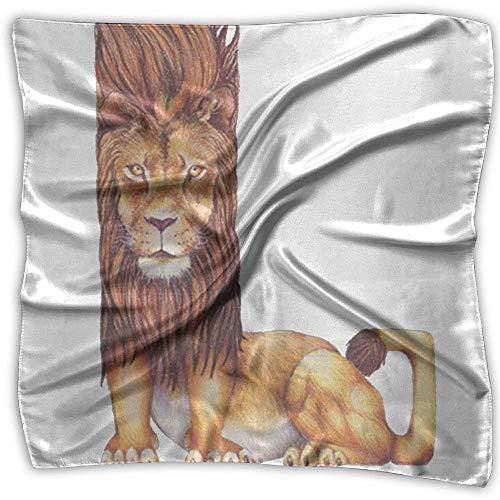 Animal Alphabet Lion Is L Square Scarfs For Women Scarve Head Wrap Shawl