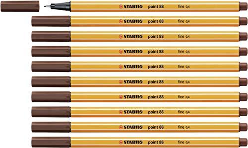 Fineliner - STABILO point 88 - 10er Pack - braun