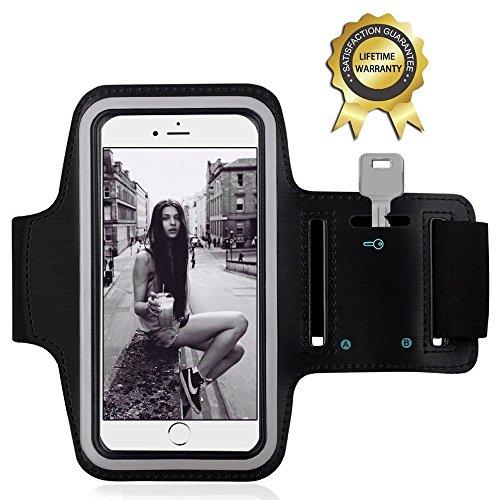 Sport Armband - YOKIRIN Doppelseitig-Lycra Schweißbeständig Wasserdicht Armband Etui Case Hülle mit Schlüsselhalter für IOS Android Smartphone MP3 GPS-Gerät unter 5,5 Zoll (X Men Zubehör)