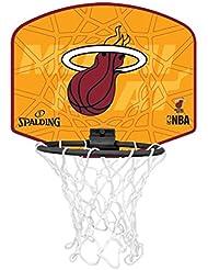 Spalding Miniboard Miami Heat - Tablero de pared de baloncesto, color multicolor, talla única