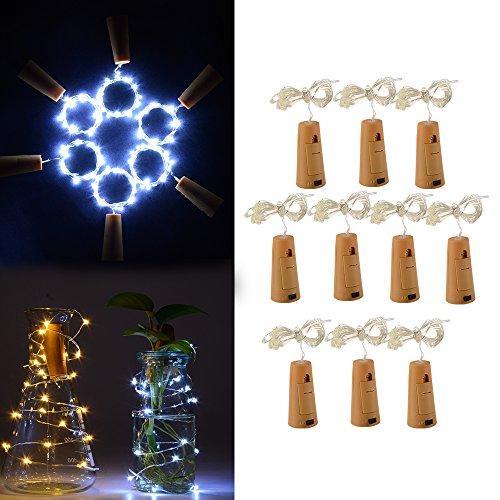 XCSOURCE® 10Stk Kork-Form LED Flaschen Kette für Weinflasche Glasdekor Kupferdraht DIY Lichter LD977