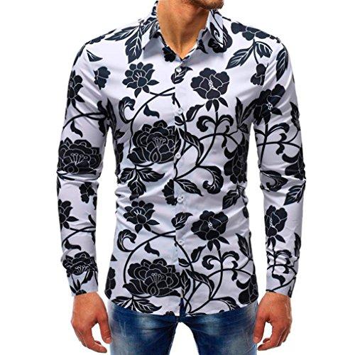 SEWORLD 2018 Herren Herbst Winter Hemd Gedruckt Slim -
