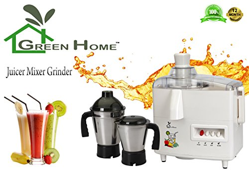 GTC Green Home Juicer Mixer Grinder 550W With 2 Stainless steel Jar (Mark-1)