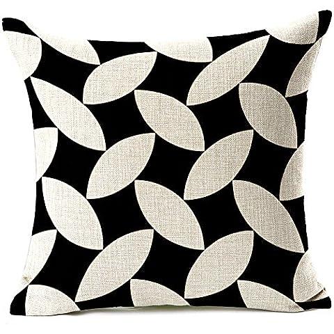 Generic cotone e lino cuscino cartoon animale stile astratto cuscino cuscini interni ed esterni, cotone/lino, Geometric, 45*45*10cm