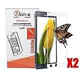 [X2Pack] skin-a ® Displayschutzfolie aus gehärtetem Glas für Samsung Galaxy Note 4White Weiß